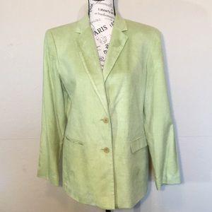 August Silk 100% Silk two button blazer Sz10